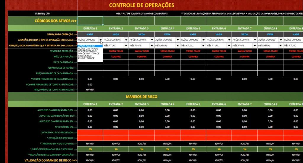 planilha de controle de operações inserção de dados 1024x551 - Profissão Trader - Como Estou Ensinando Meu Filho A Se Tornar Um Trader Vencedor.