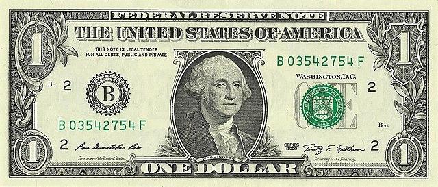 1 frente da nota de 1 dólar 640px - Dólar Hoje - Confira A Cotação.