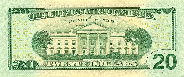 10 verso da nota de 20 dólares 640px - Dólar Hoje - Confira A Cotação.