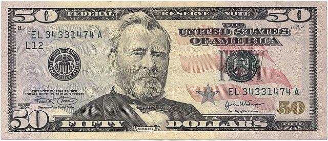 11 frente da nota de 50 dólares 640px - Dólar Hoje - Confira A Cotação.