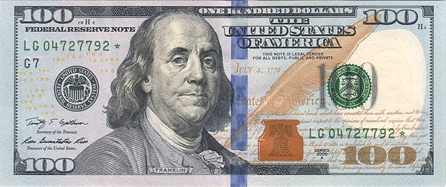13 frente da nota de 100 dólares 640px - Dólar Hoje - Confira A Cotação.