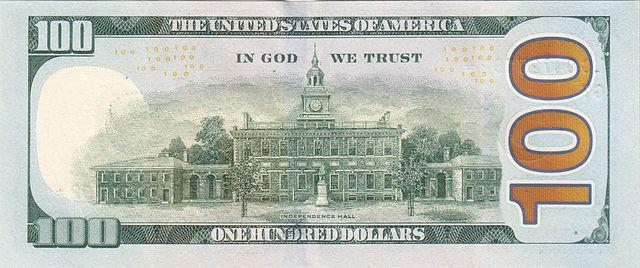 14 verso da nota de 100 dólares 640px - Dólar Hoje - Confira A Cotação.