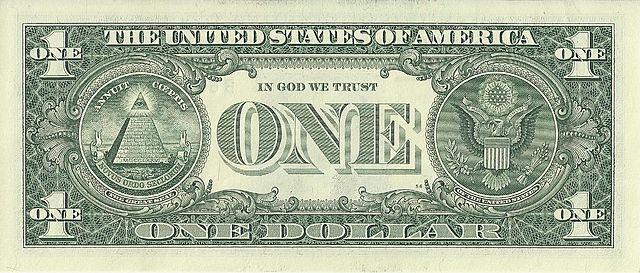 2 verso da nota de 1 dólar 640px - Dólar Hoje - Confira A Cotação.