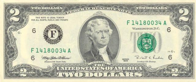 3 frente da nota de 2 dólares 640px - Dólar Hoje - Confira A Cotação.