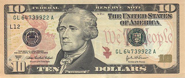 7 frente da nota de 10 dólares 640px - Dólar Hoje - Confira A Cotação.