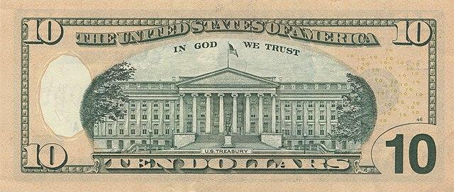 8 verso da nota de 10 dólares 640px - Dólar Hoje - Confira A Cotação.